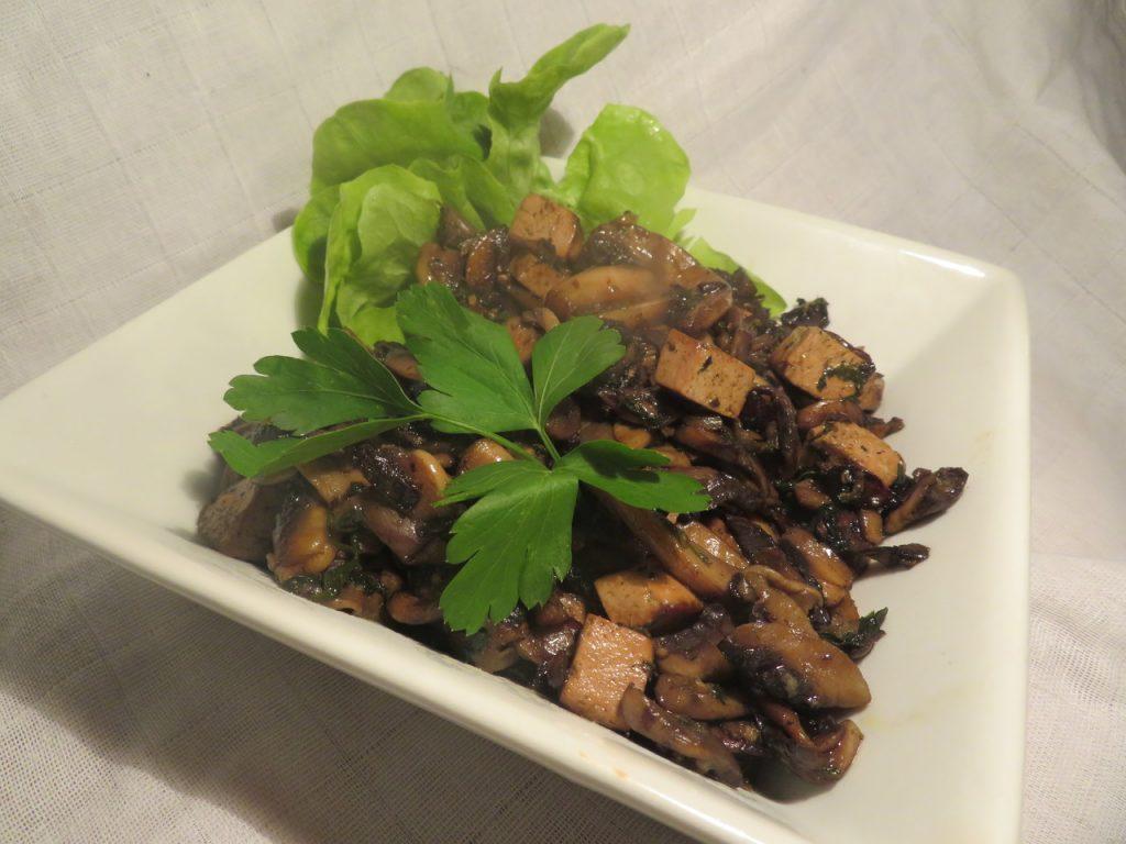 Poêlée de Champignons et Tofu