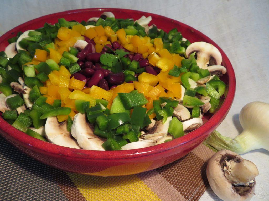 Salade de Haricots Rouges aux Champignons