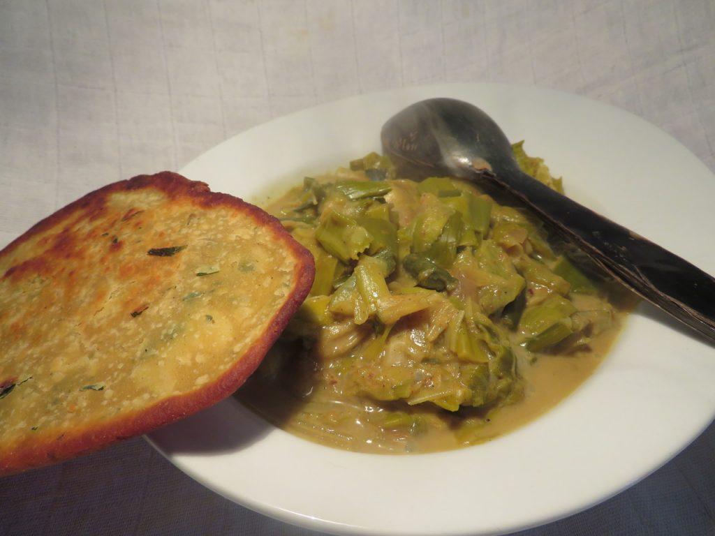 Curry de Poireaux à la Crème de Coco