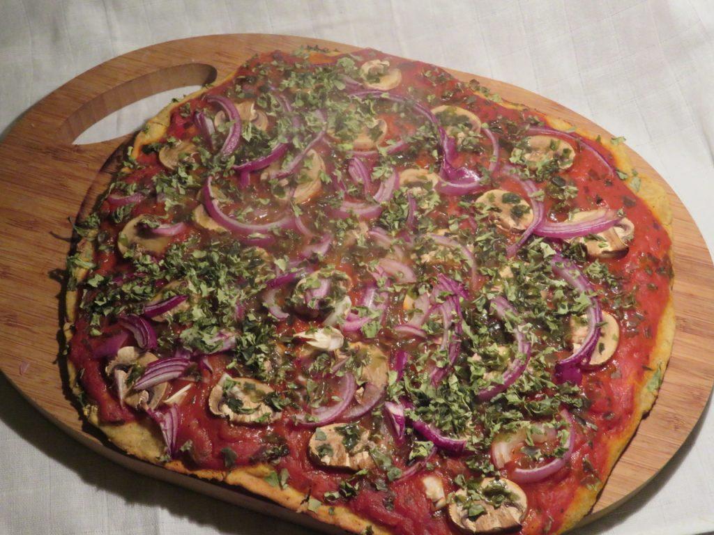 Pizza aux Algues & Champignons