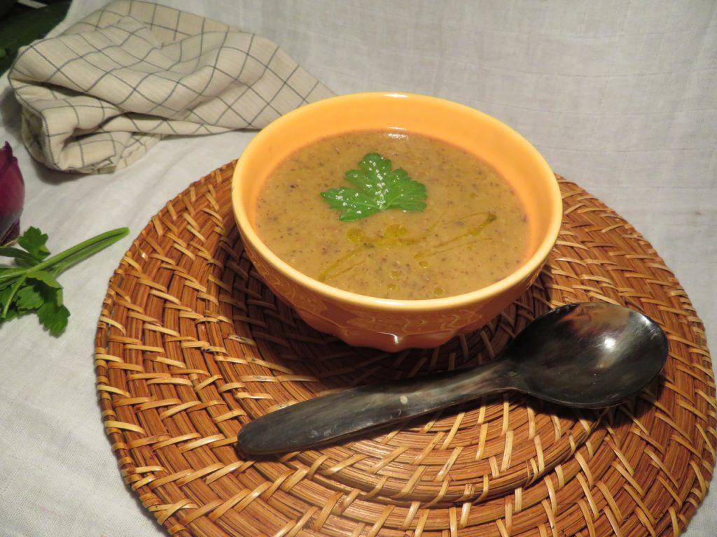 Soupe Lentilles Corail Champignons