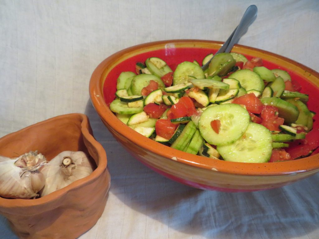 Salade de Tomates, Courgettes & Concombre au Cumin