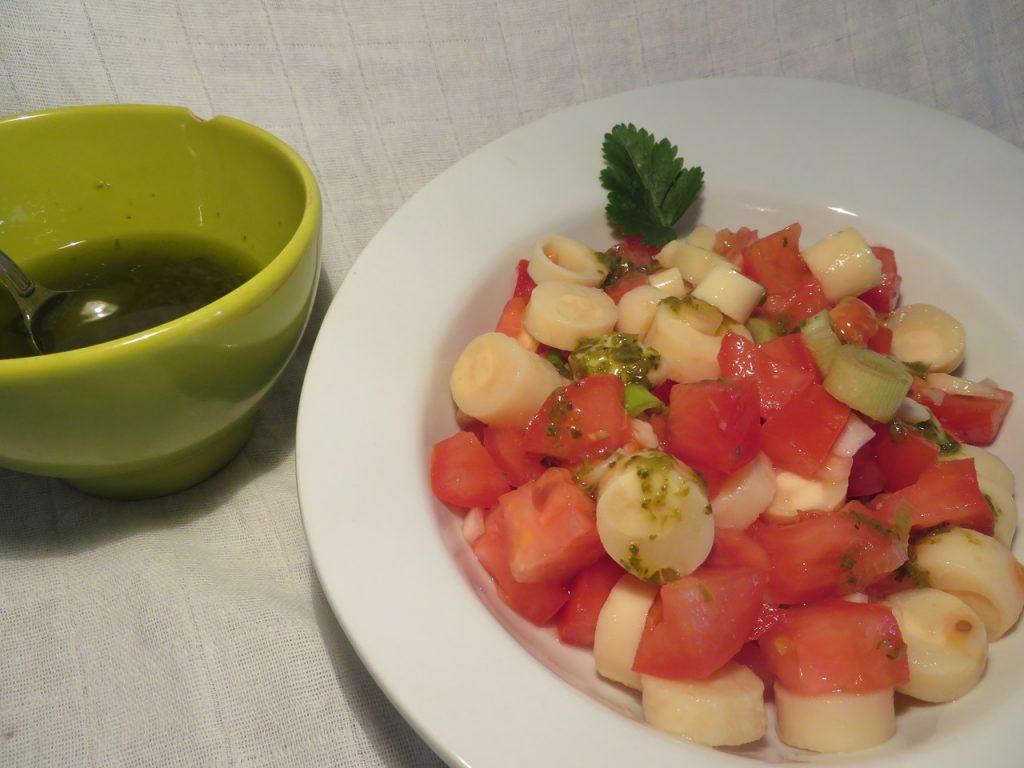 Salade de Tomates & Coeurs de Palmier au Basilic