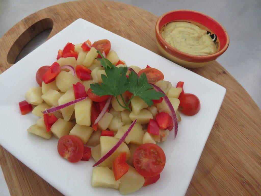 Salade de Pommes de Terre, Poivrons & Tomates-Cerises