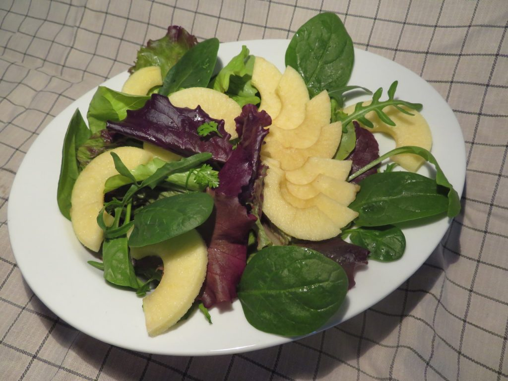 Salade Pommes, Mâche, Epinards