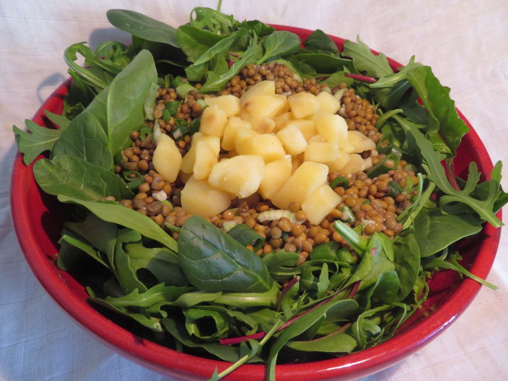 Salade de Lentilles Pommes de Terre et Epinards