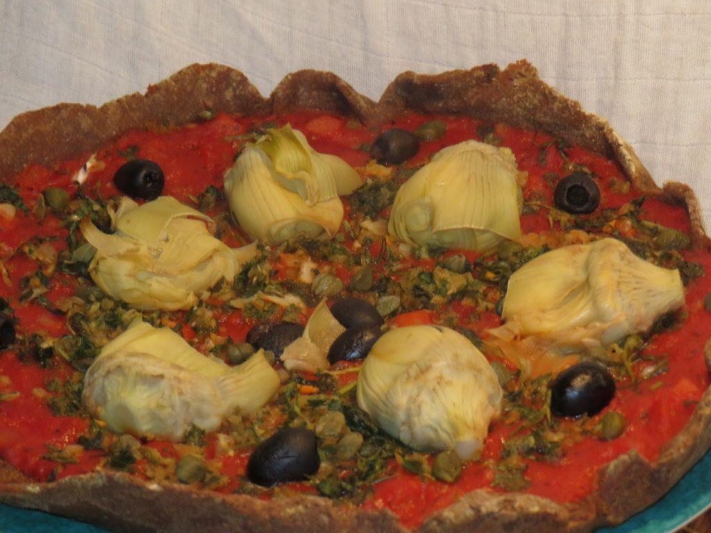 Pizza aux Coeurs d'Artichaut