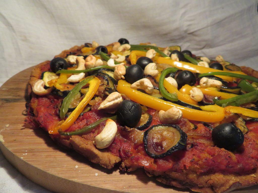 Pizza aux Noix de Cajou