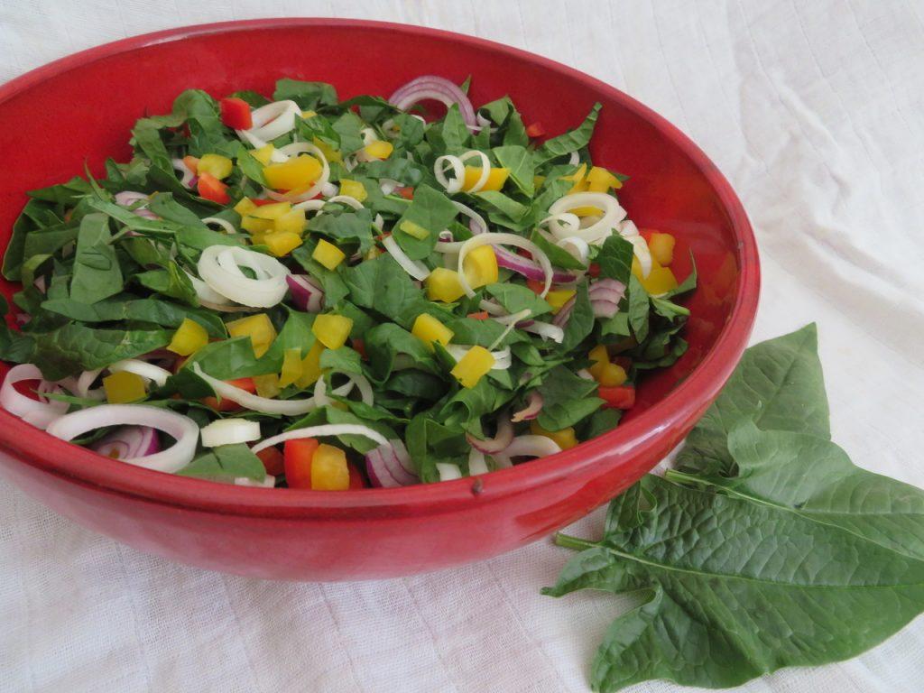 Salade Epinards Poireaux Poivrons