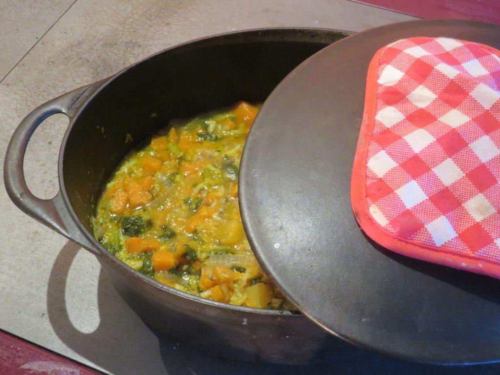 Soupe de Cresson, Patates Douces, Romanesco et Rutabagas