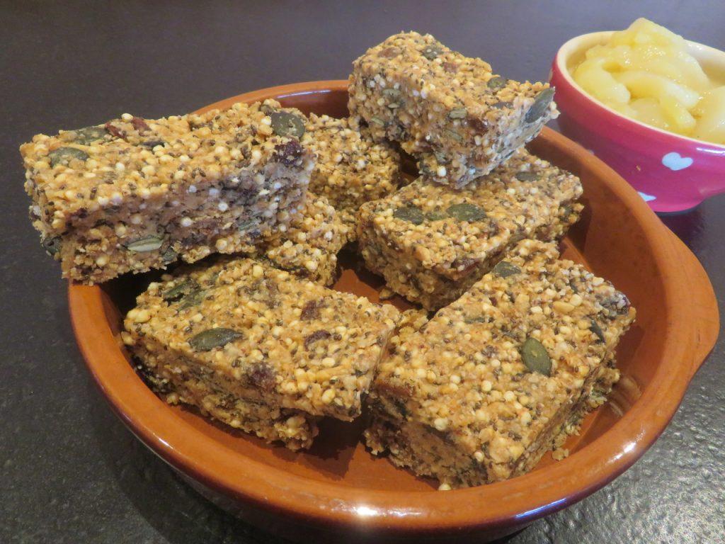 Barres Sarrasin Quinoa au Beurre de Cacahuètes