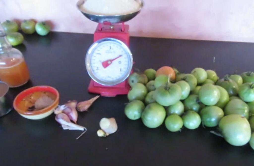 Chutney de Tomates Vertes