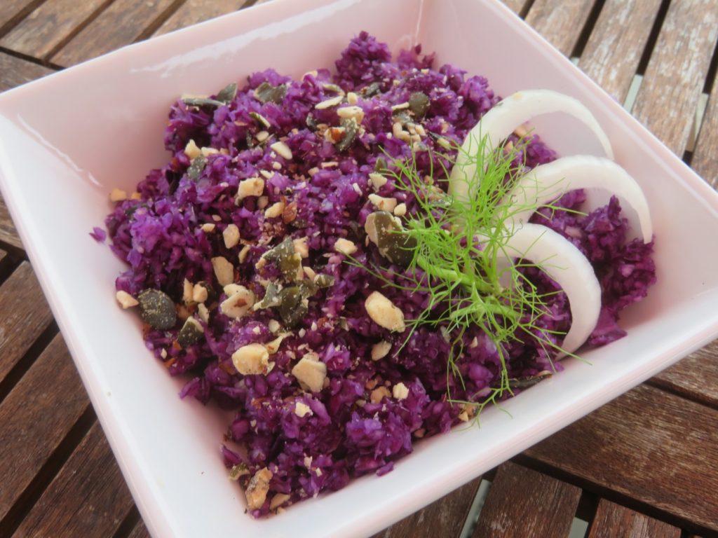 Salade Croquante de Chou Rouge au Fenouil