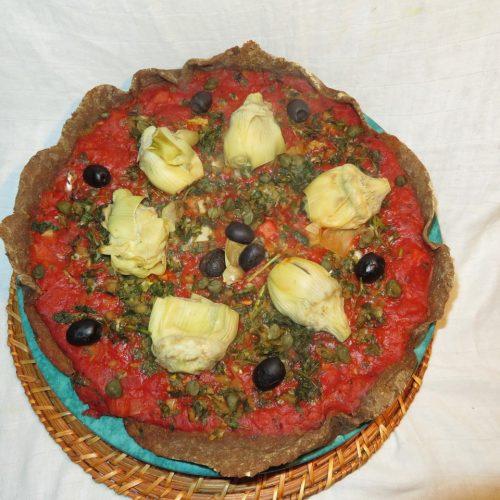 Pizza artichaut câpres olives (14)