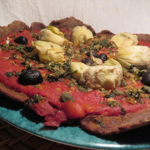Pizza artichaut câpres olives (6)