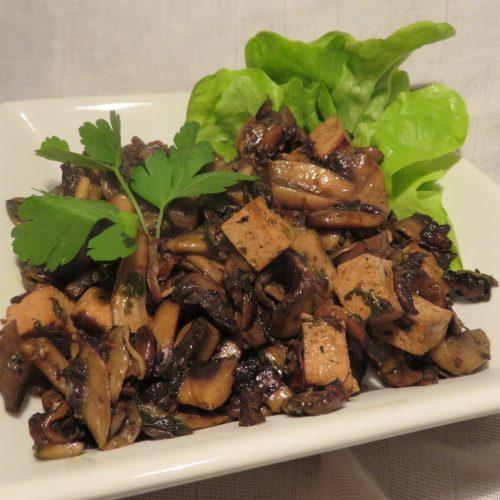 Poêlée champ tofu persil (3)